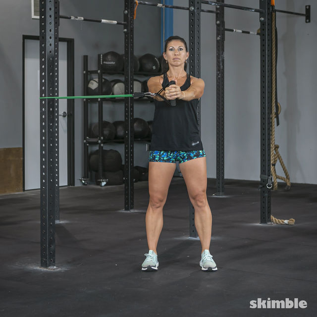 How to do: Torso Twist with Band - Step 1