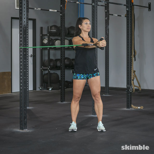 How to do: Torso Twist with Band - Step 2