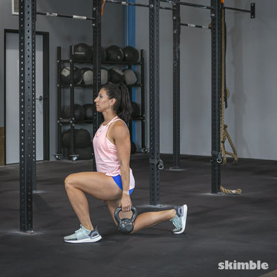 Left Lunges with Kettlebell