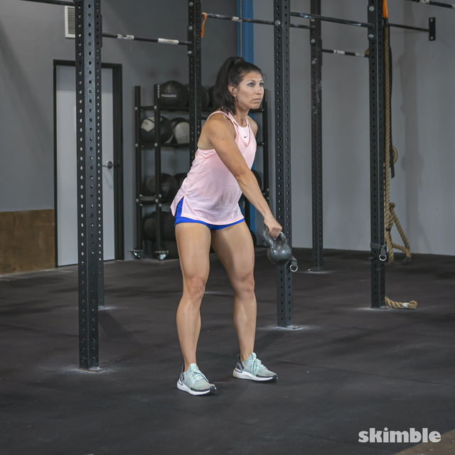 How to do: Right Kettlebell Swings - Step 10