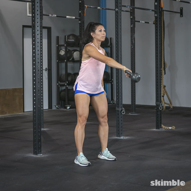 How to do: Right Kettlebell Swings - Step 8