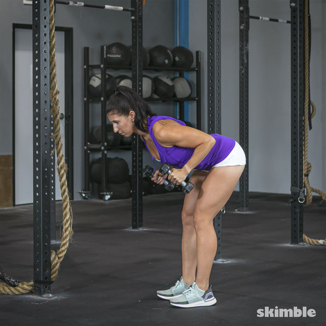 How to do: Bent Over Tricep Kickbacks - Step 2