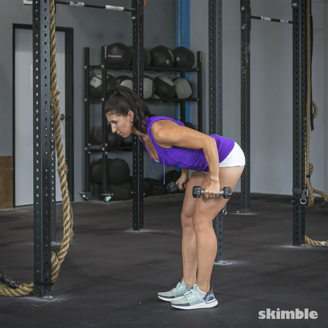 How to do: Bent Over Tricep Kickbacks - Step 3