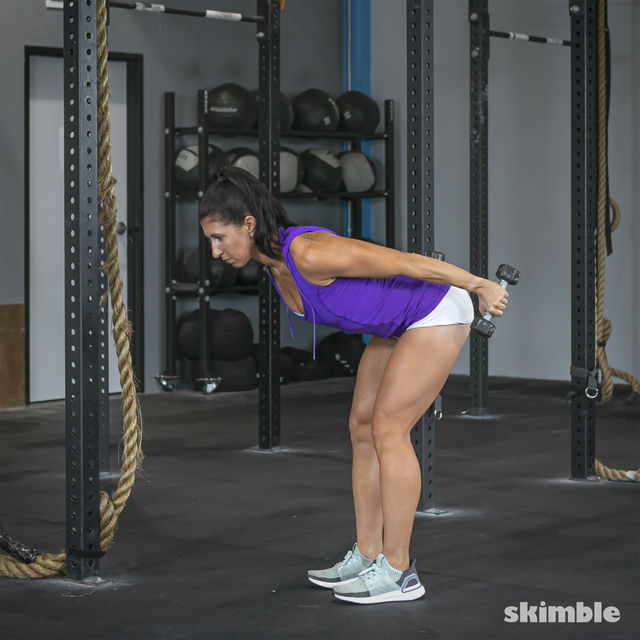 How to do: Bent Over Tricep Kickbacks - Step 4