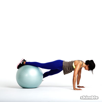 Stability Ball Plank with Tap Offs