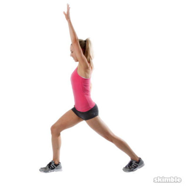How to do: Right Runner's Lunge - Step 2