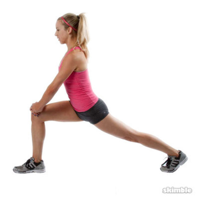 Right Runner's Lunge - Exercise How-to - Workout Trainer ...