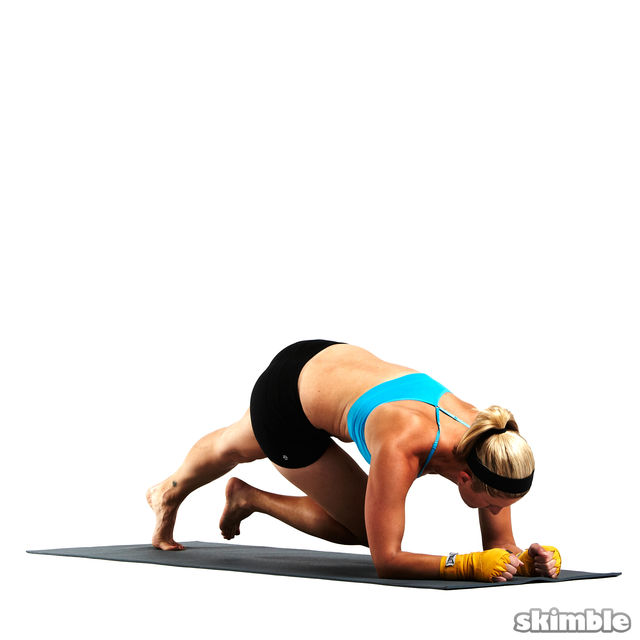 How to do: Full Scorpion Elbow Plank - Step 4