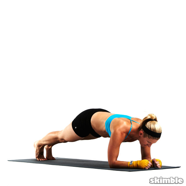 How to do: Full Scorpion Elbow Plank - Step 8