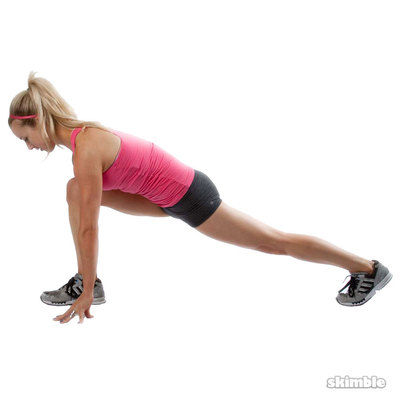 Right Runner's Lunge With Arm Raise