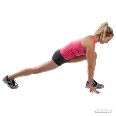 Left Runner's Lunge With Arm Raise