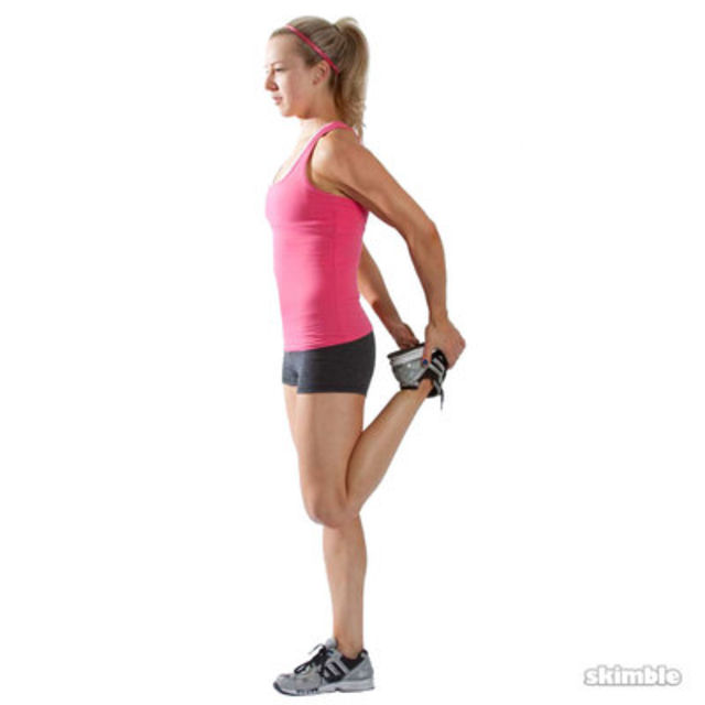Left Quad Stretch Exercise How To Skimble