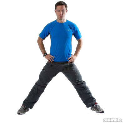Wide Leg Stance - Deepen Stretch