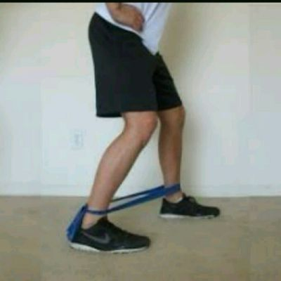 Walking Abductors with Band Forwards And Backwards Monster Steps
