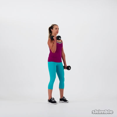 Dumbbell Curls Hands Pointing Out