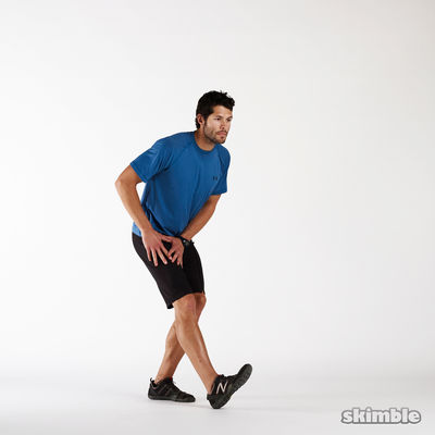 Standing Left Hamstring Stretch