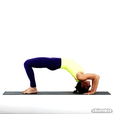 Wheel Pose With Left Leg Raised