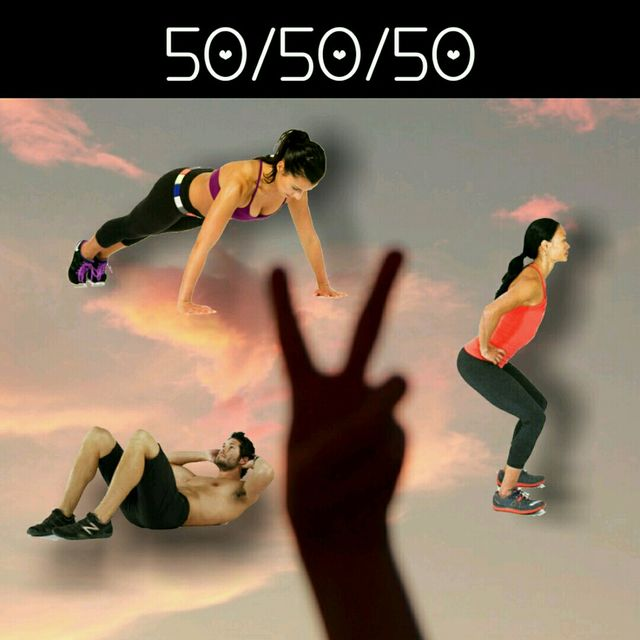 50 Push Ups, 50 Squats And 50 Crunches Level 2
