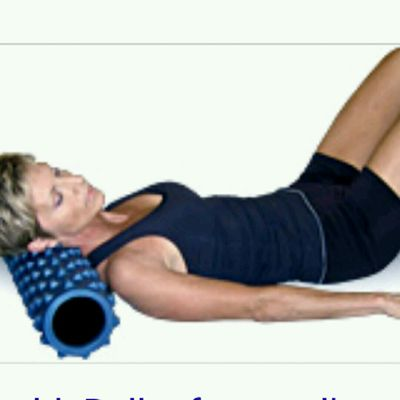 NECK Rolls, Place Roller Under Neck -BACK ON THE GROUND- , Move Head Side To Side Slowly