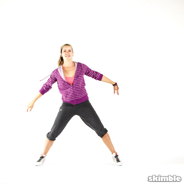How to do: Side Hop and Clap - Step 3
