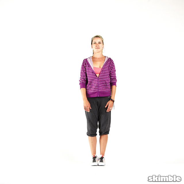 How to do: Side Hop and Clap - Step 7