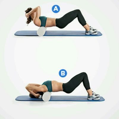 Back Roll CRUNCHES