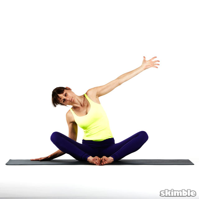 How to do: Seated Moon Stretch - Step 2