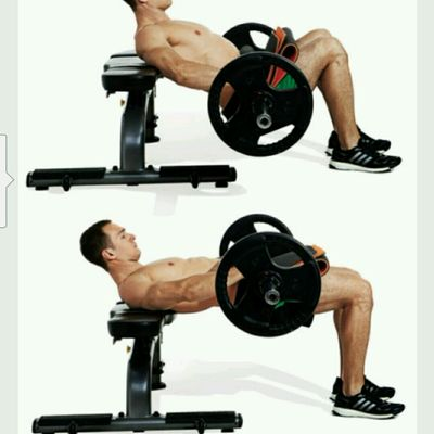 Barbell Hip Thrusts With ELEVATED SHOULDER X 10 - 15