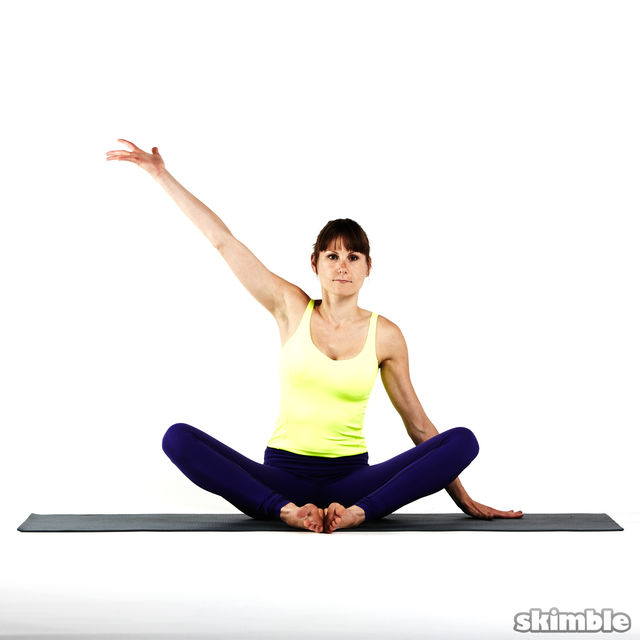 How to do: Seated Moon Stretch - Step 7
