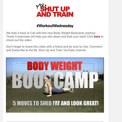 Body Weight Boot camp