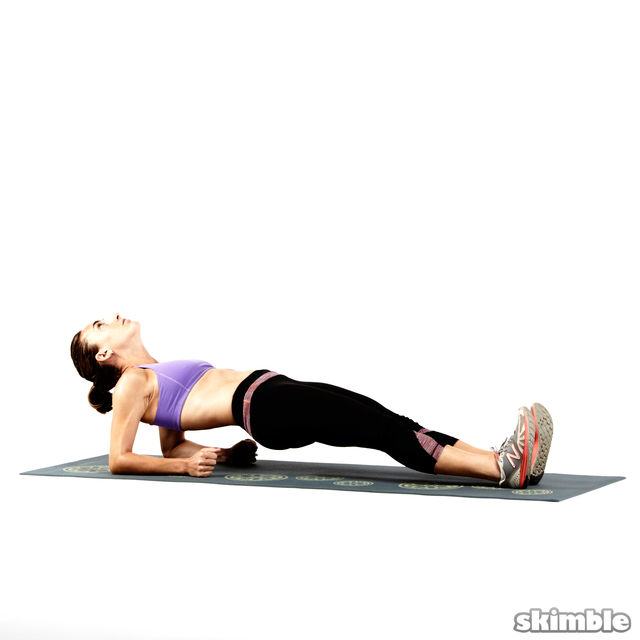 Image result for reverse plank on elbows