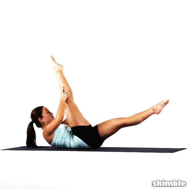 How to do: Pilates Scissors - Step 2