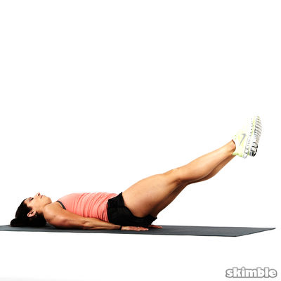 Lying Right Hip Stretch