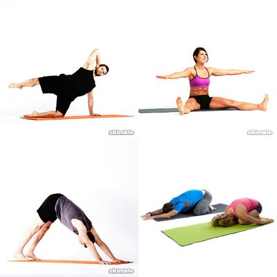 Yoga, pilates and stretching