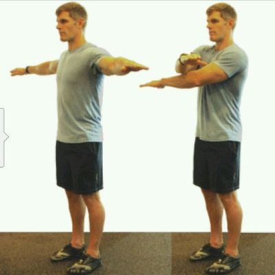 Boxer's Side Front Crossover Arm Swing