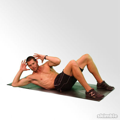 Cross Body Crunches