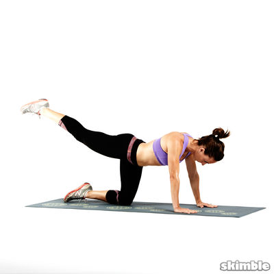 High Glute Kickbacks w/ankle weights