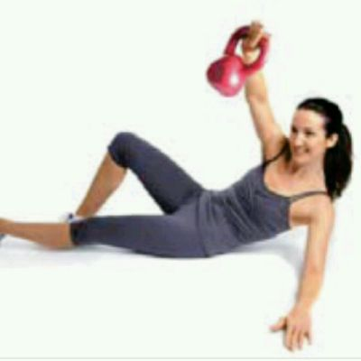 Kettlebell sit-ups With CHEST PRESS