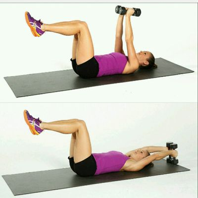 Lying Overhead Reaches With KETTLEBELL