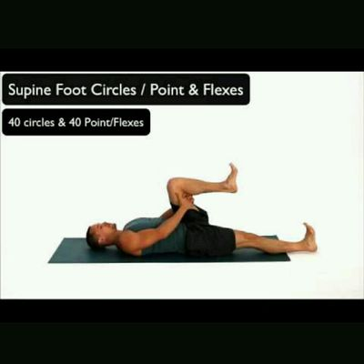 Supine Foot Circles And Point Flexes