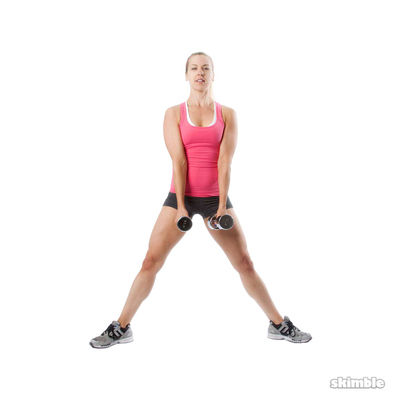 Dumbbell Sumo Squats Bicep Curls
