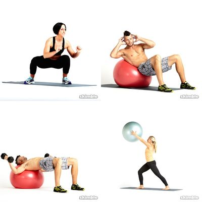 Dumbells and Stability Ball Workouts