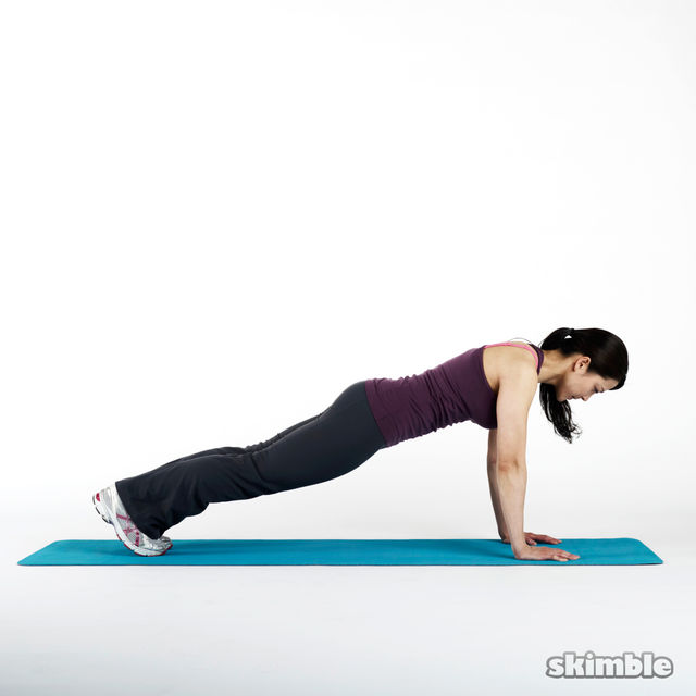 Plank To Push Up