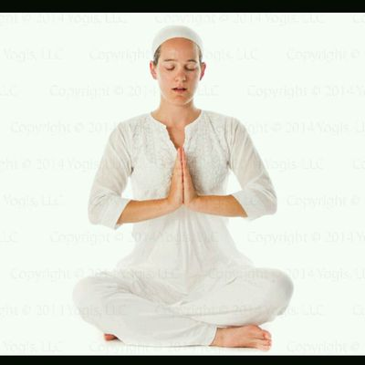 "Om Mantra -take A Deep Inhale Then  Chant ""OM"" 3 Times While Your Hands Are In Prayer Pose."