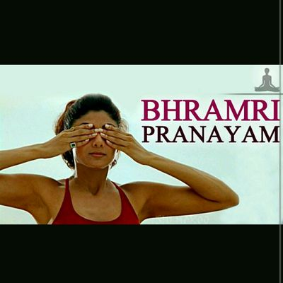 Brahmari-Humming Bee Breath,cover Face With Both Hands , First Finger On Third Eye, Placing Fingers Down Bridge Of Nose, Thumbs Pressing Into Ear,deep Inhale, Exhale Hum Like Bee