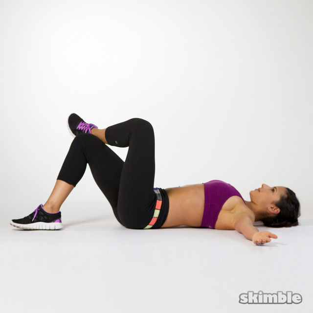 How to do: Right Oblique Crunches - Step 1