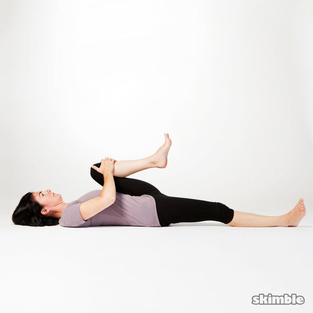 How to do: Floor Knee to Chest Stretch - Step 2