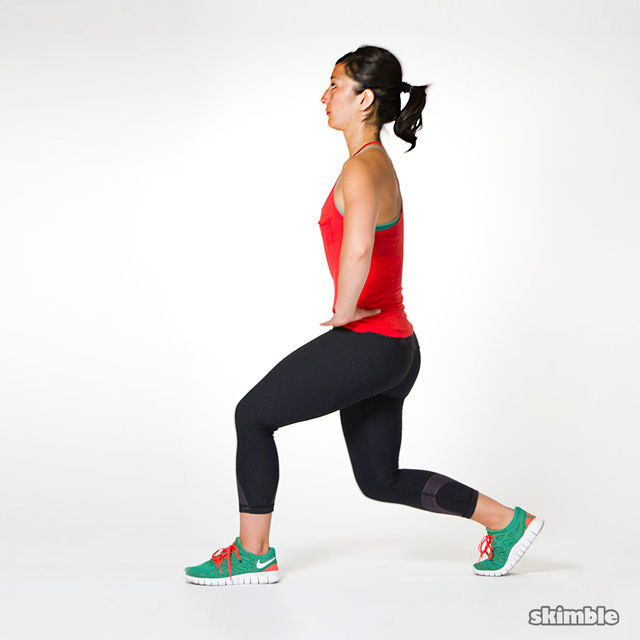 2 Minute Walking Lunge Challenge