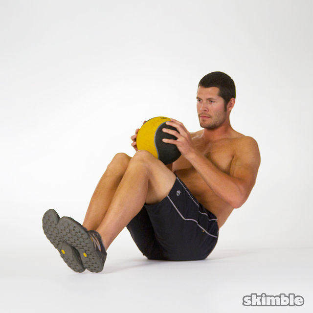How to do: Russian Twists with a Ball - Step 2