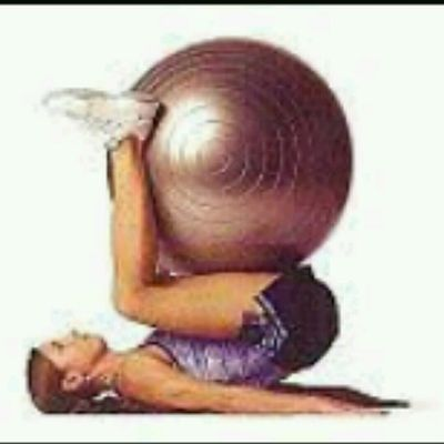 Stability Ball Reverse Crunches